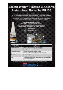 Sotch-weld- plástico e adesivo instantâneo borracha PR100
